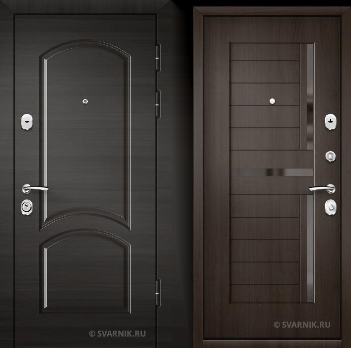 Дверь железная наружная в квартиру МДФ - МДФ