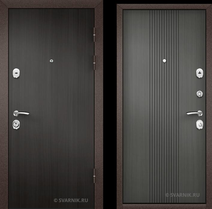 Дверь металлическая с шумоизоляцией на дачу ламинат - МДФ