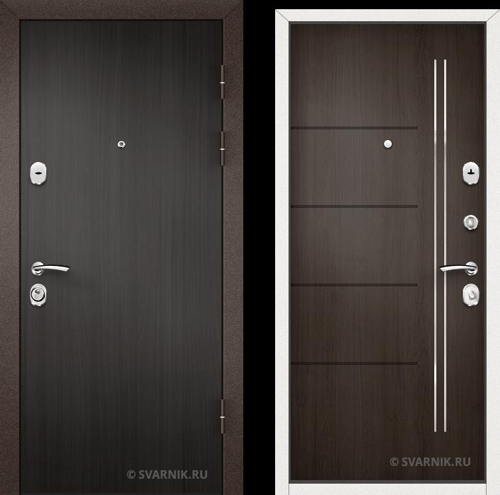 Дверь металлическая усиленная в коттедж ламинат - винорит
