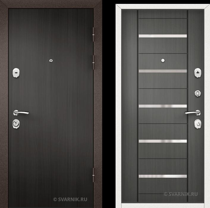 Дверь металлическая трехконтурная уличная ламинат - МДФ
