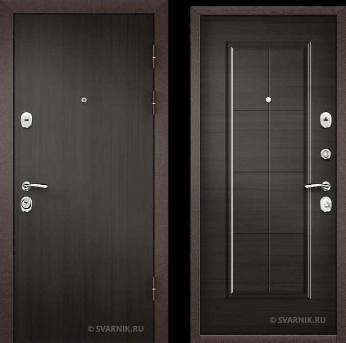 Дверь металлическая вторая уличная ламинат - МДФ