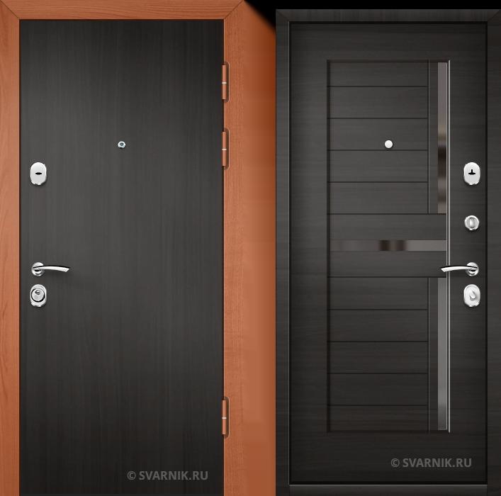 Дверь металлическая с установкой уличная ламинат - МДФ