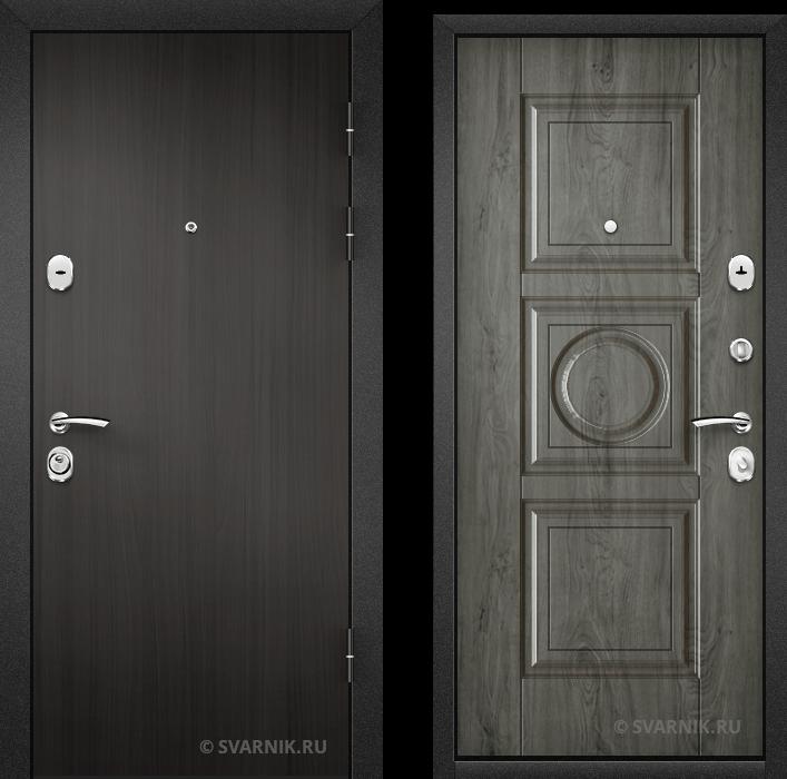 Дверь металлическая российская на дачу ламинат - винорит