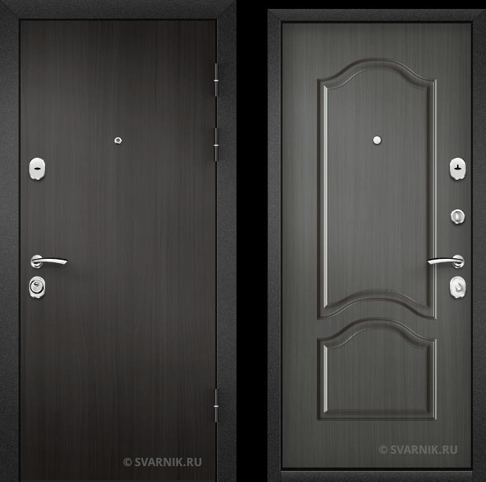 Дверь металлическая внутренняя в коттедж ламинат - шпон