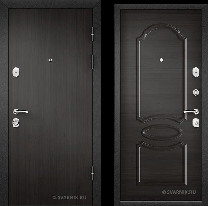 Дверь металлическая с терморазрывом в дом ламинат - МДФ