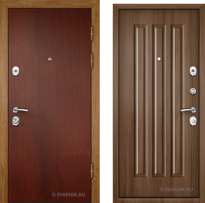Дверь металлическая правая на дачу ламинат - винорит