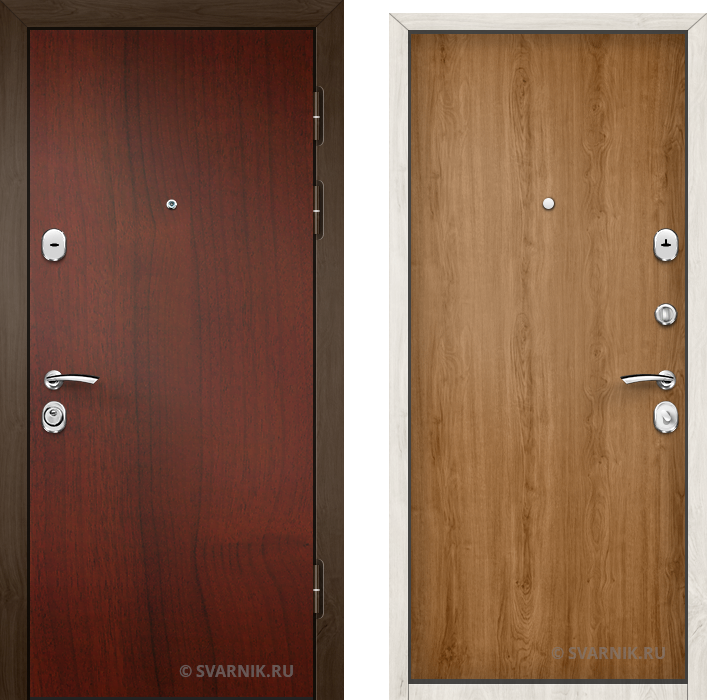 Дверь входная правая в коттедж ламинат - ламинат