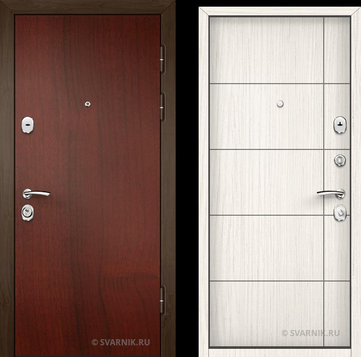 Дверь металлическая вторая в офис ламинат - винорит