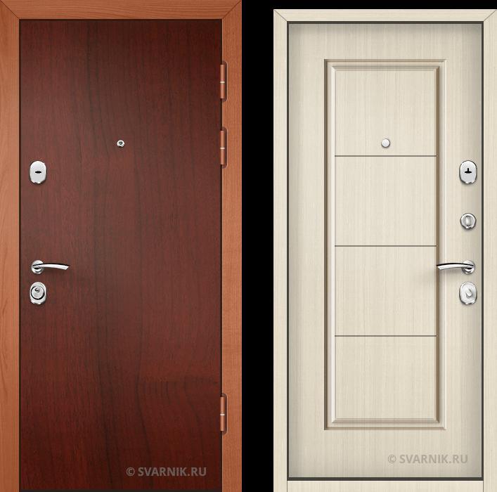 Дверь металлическая с шумоизоляцией в коттедж ламинат - шпон