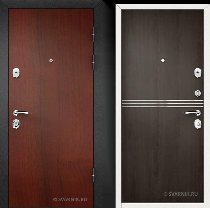 Дверь металлическая утепленная в офис ламинат - шпон