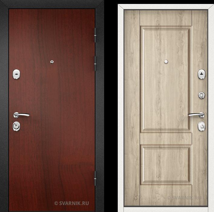 Дверь входная утепленная в квартиру ламинат - массив