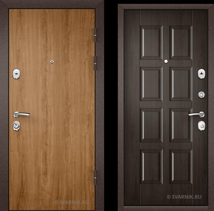 Дверь металлическая под ключ на дачу ламинат - МДФ