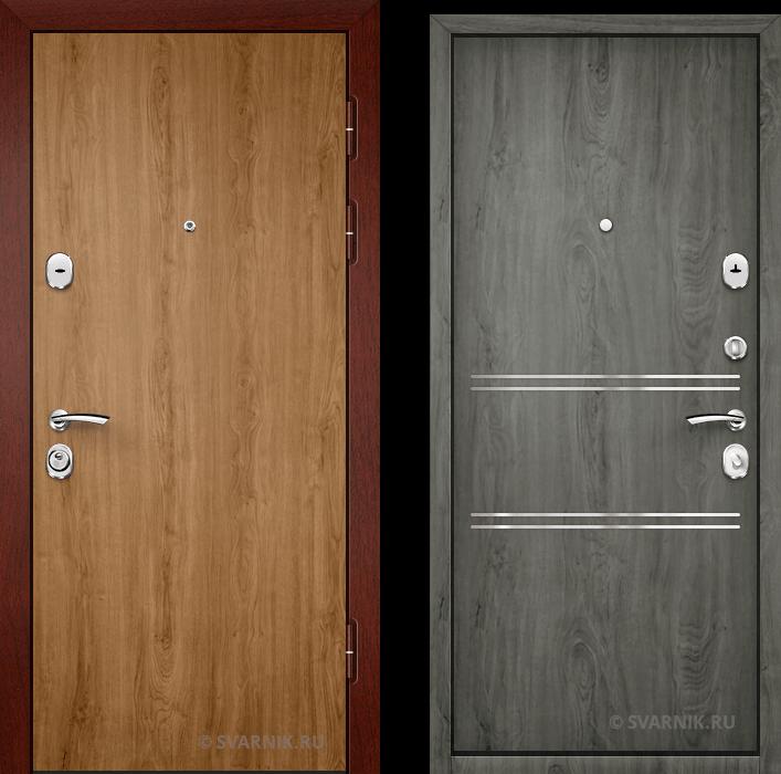 Дверь входная с установкой в дом ламинат - массив