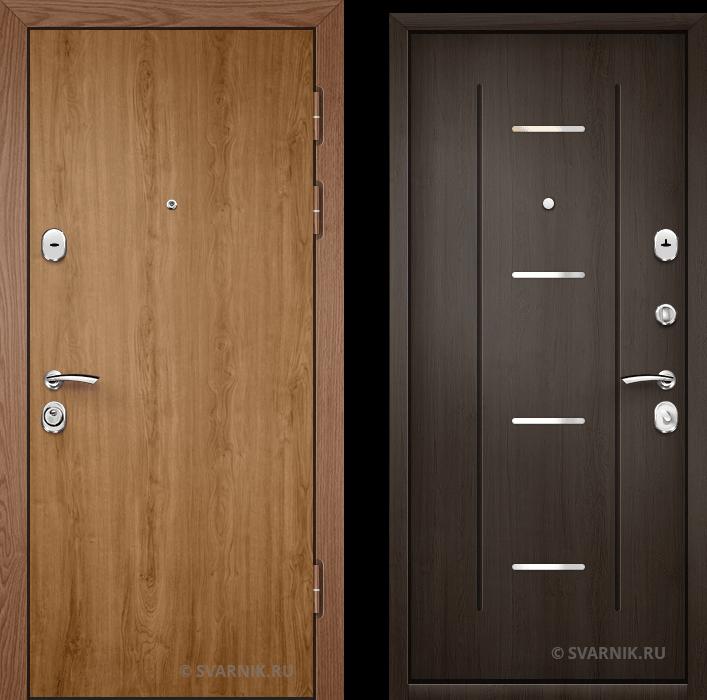 Дверь входная вторая в коттедж ламинат - массив