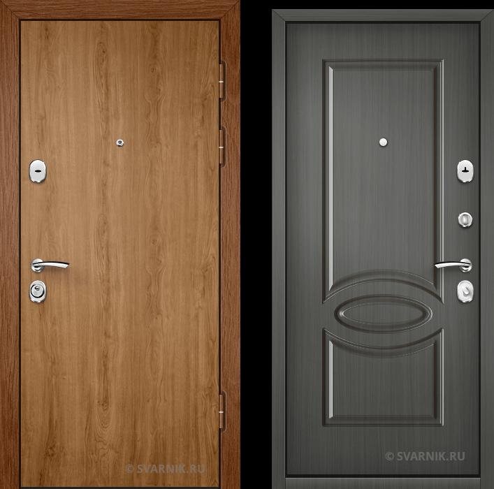 Дверь металлическая утепленная в офис ламинат - винорит