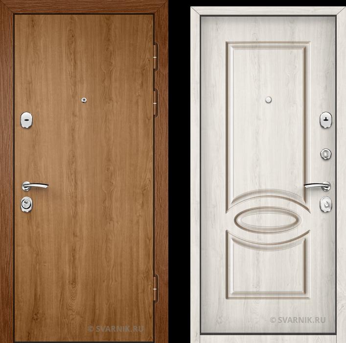 Дверь металлическая под ключ в коттедж ламинат - шпон