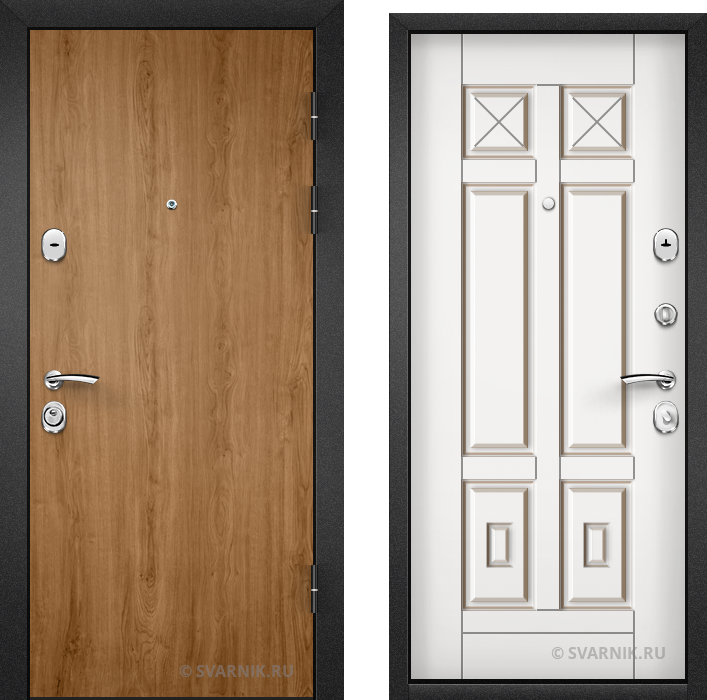 Дверь металлическая с установкой в офис ламинат - МДФ