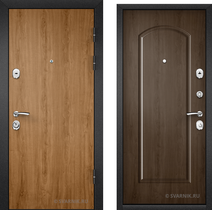 Дверь входная правая в дом ламинат - массив