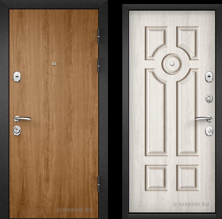 Дверь металлическая с замками KALE в коттедж ламинат - МДФ