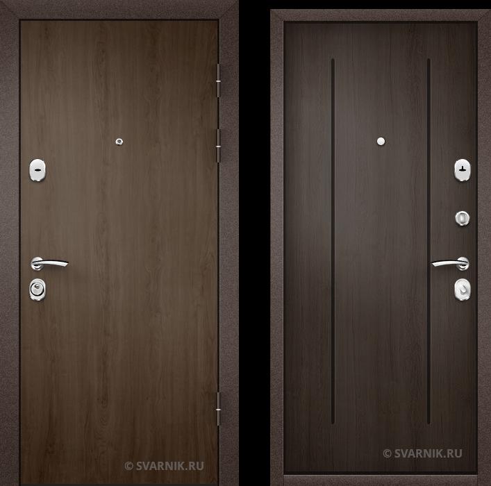 Дверь входная под ключ в коттедж ламинат - массив