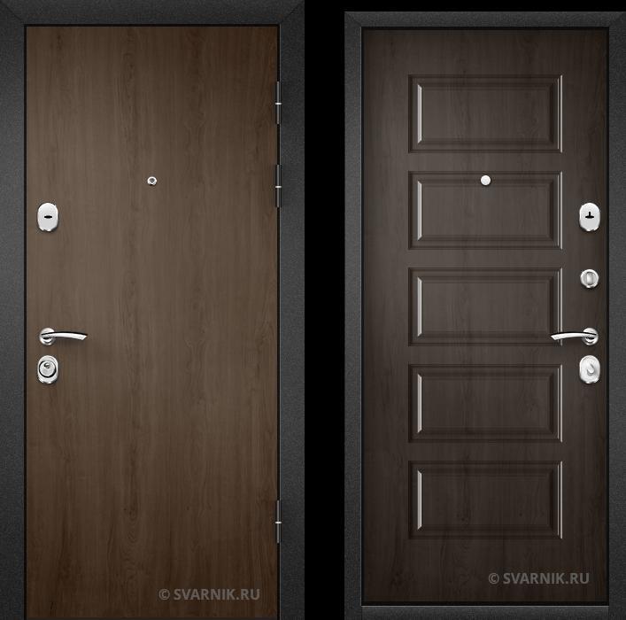 Дверь металлическая трехконтурная в коттедж ламинат - МДФ