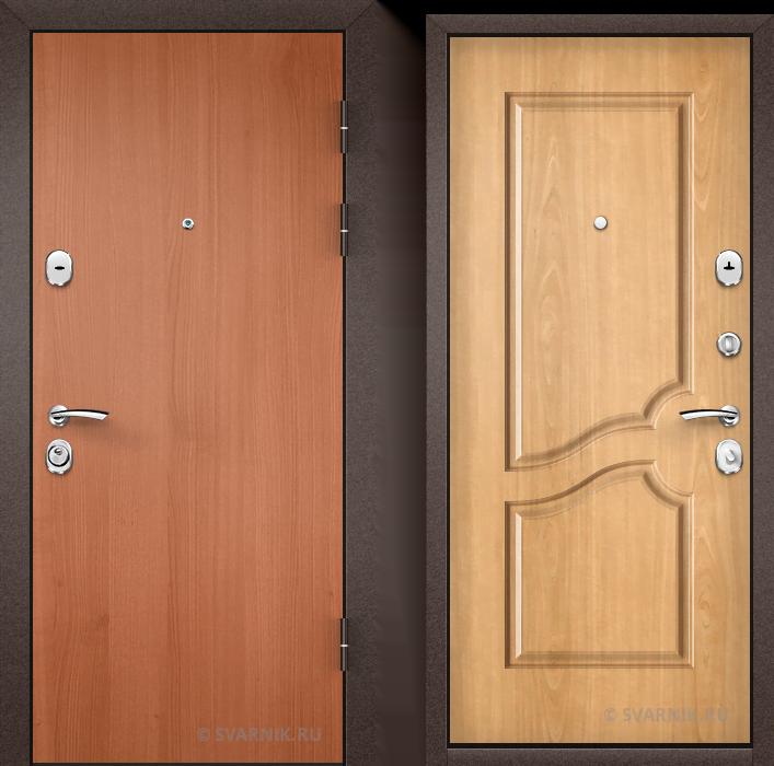 Дверь металлическая с шумоизоляцией уличная ламинат - винорит