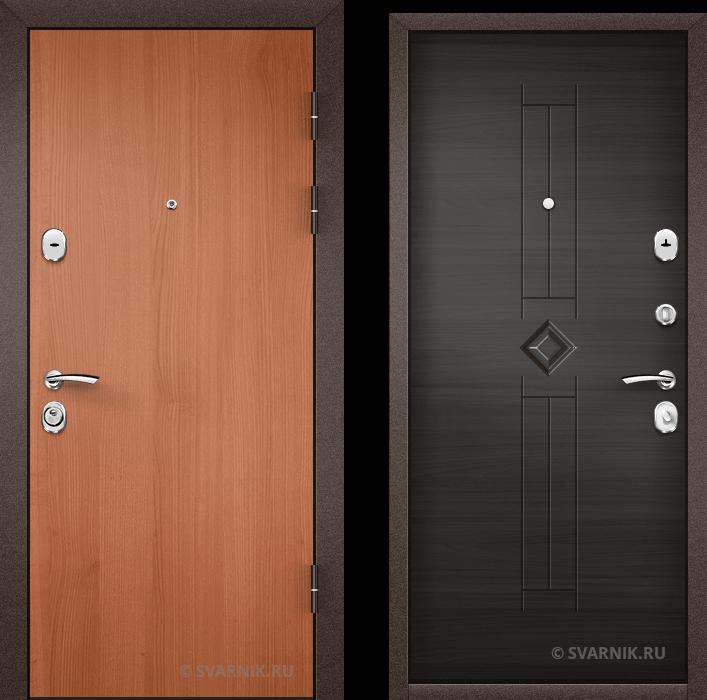 Дверь металлическая правая в квартиру ламинат - шпон