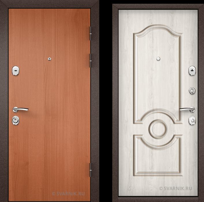 Дверь металлическая трехконтурная на дачу ламинат - винорит