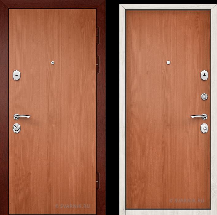 Дверь входная правая в офис ламинат - ламинат