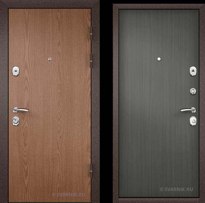 Дверь металлическая под ключ в коттедж ламинат - винорит