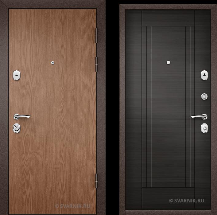 Дверь металлическая с терморазрывом в офис ламинат - МДФ