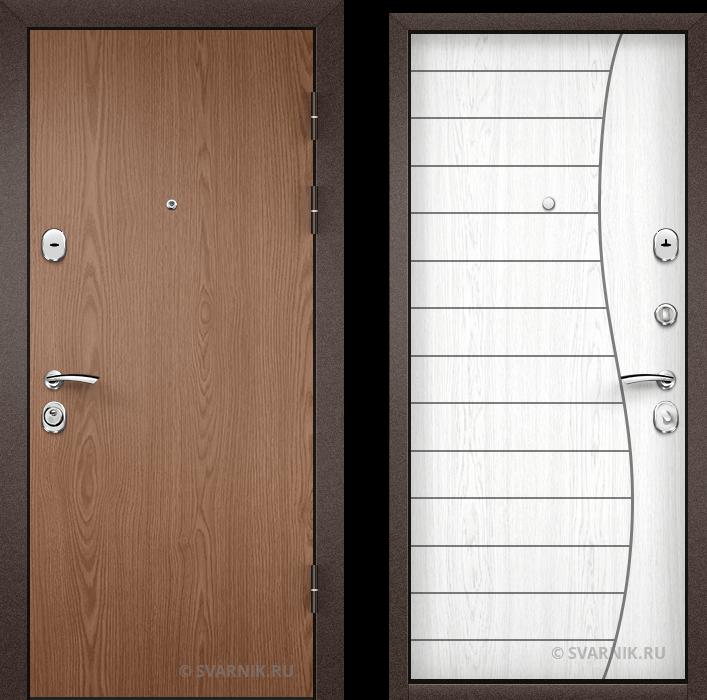 Дверь металлическая трехконтурная уличная ламинат - винорит