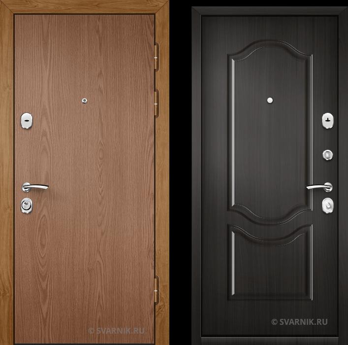 Дверь металлическая утепленная в коттедж ламинат - МДФ