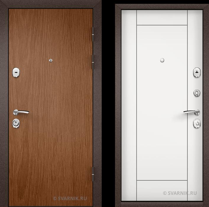 Дверь металлическая с шумоизоляцией в офис ламинат - МДФ