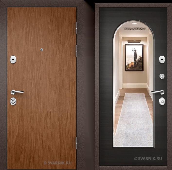 Дверь металлическая под ключ в коттедж ламинат - МДФ