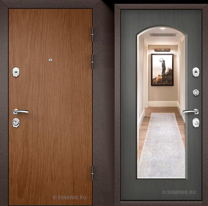 Дверь металлическая с замками KALE на дачу ламинат - винорит