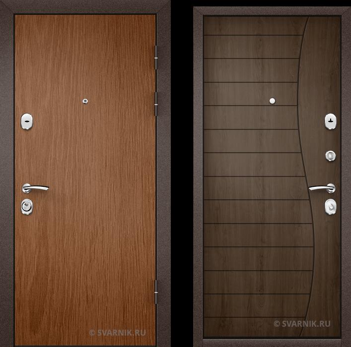Дверь металлическая усиленная в офис ламинат - шпон