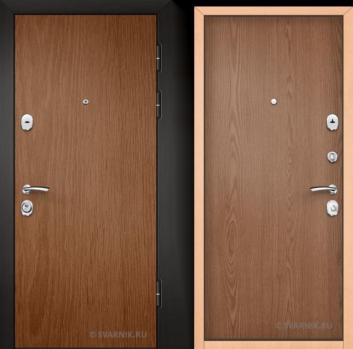 Дверь входная наружная в коттедж ламинат - ламинат