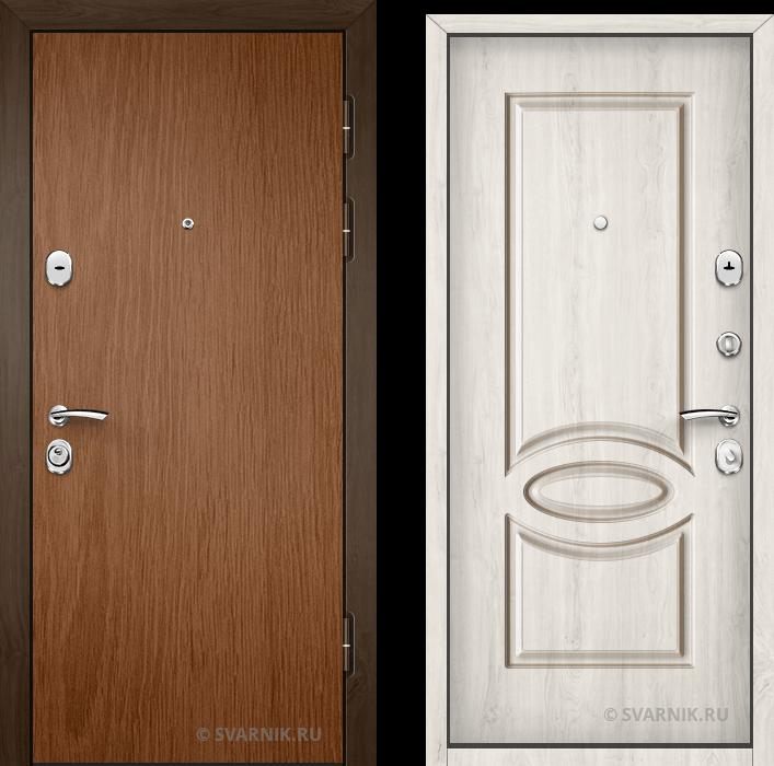 Дверь металлическая наружная в квартиру ламинат - шпон