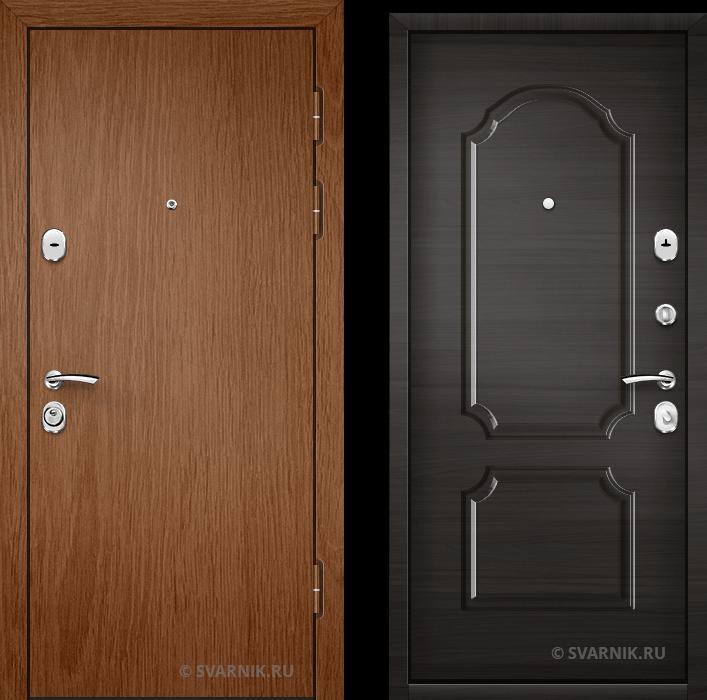 Дверь металлическая трехконтурная в офис ламинат - МДФ