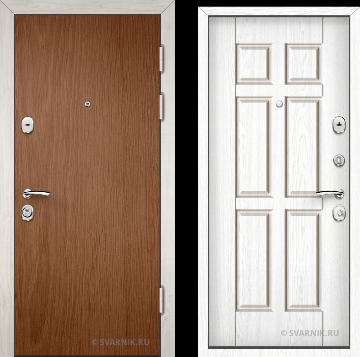 Дверь металлическая утепленная в коттедж ламинат - винорит