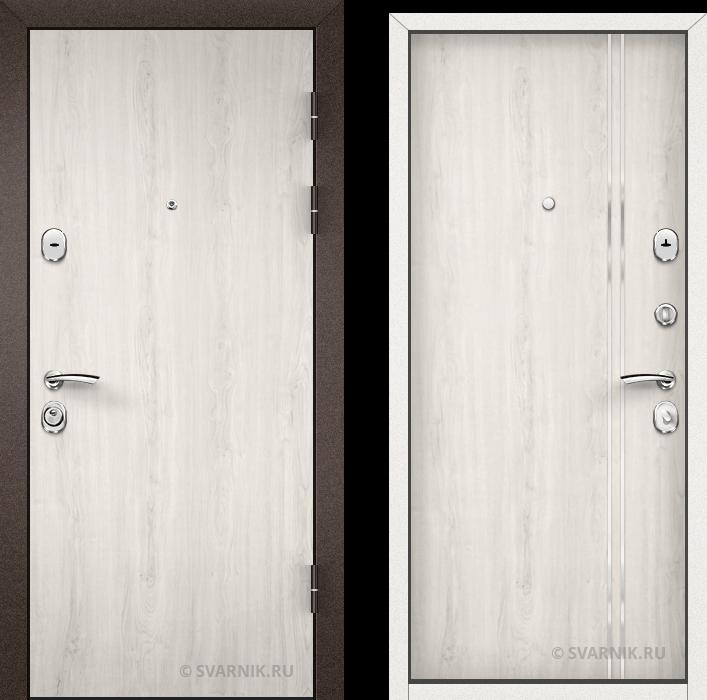 Дверь металлическая наружная в коттедж ламинат - шпон