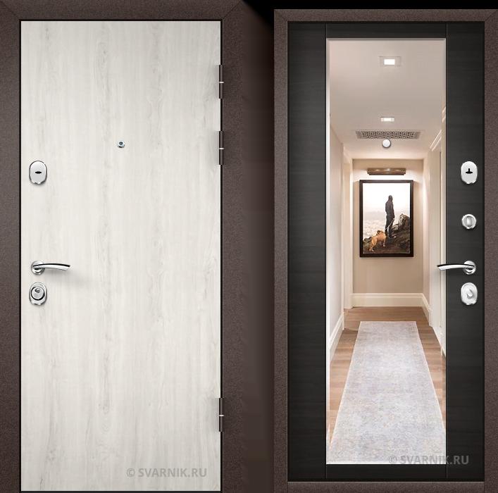 Дверь металлическая правая в коттедж ламинат - винорит