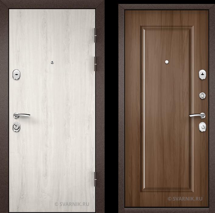 Дверь металлическая правая в офис ламинат - шпон