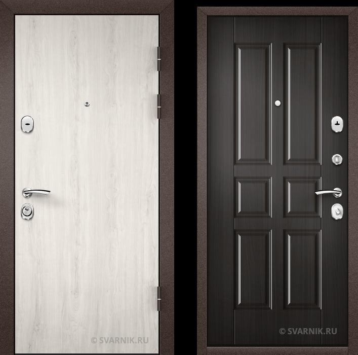 Дверь металлическая под ключ уличная ламинат - МДФ