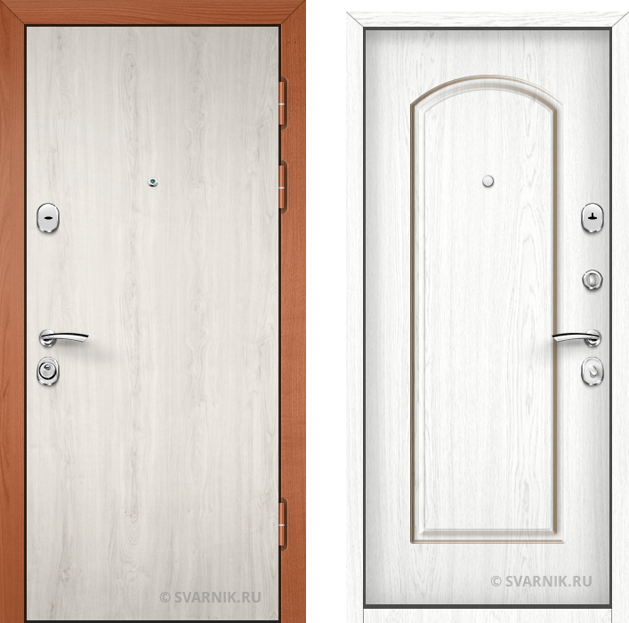 Дверь металлическая наружная в дом ламинат - МДФ