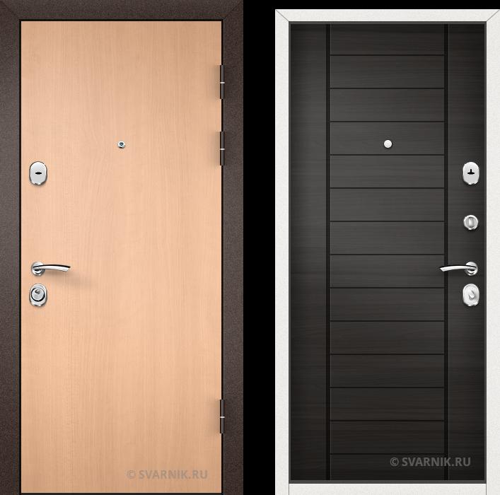 Дверь металлическая наружная уличная ламинат - шпон