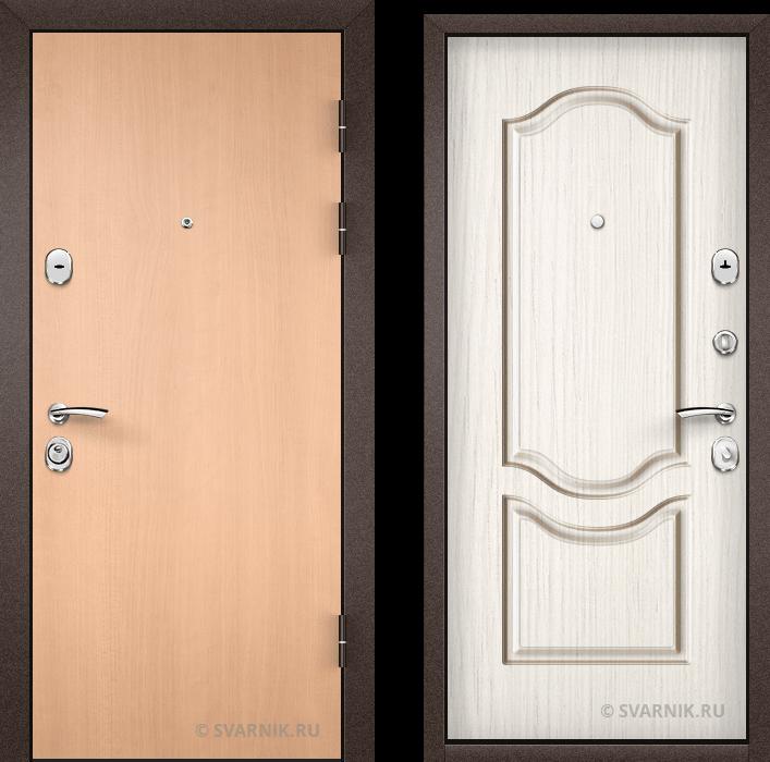 Дверь металлическая накладная уличная ламинат - МДФ