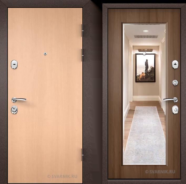 Дверь металлическая трехконтурная в дом ламинат - винорит