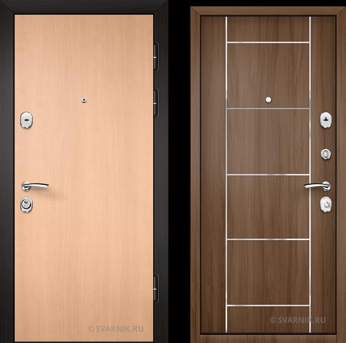 Дверь металлическая наружная в офис ламинат - шпон
